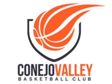 A logo for Conejo Valley Basketball