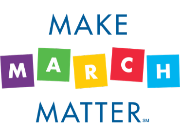 The Make March Matters Campaign Logo is above current campaigns.