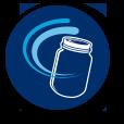 Blue jar swirl
